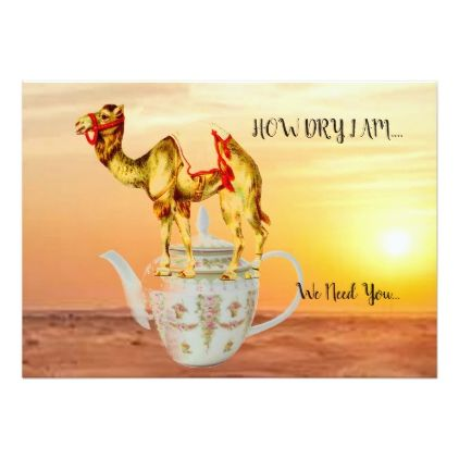 INVITATION TO A GALA GET TOGETHER TEA PARTY-HORIZO - birthday diy gift present custom ideas