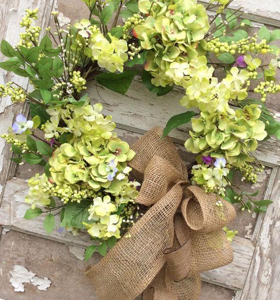 Hydrange Wreath,Spring Wreath,Double Door Wreath,Mothers Day Wreath,Easter wreath,Front Door Wreath,Double Door Wreath,Everyday Wreath