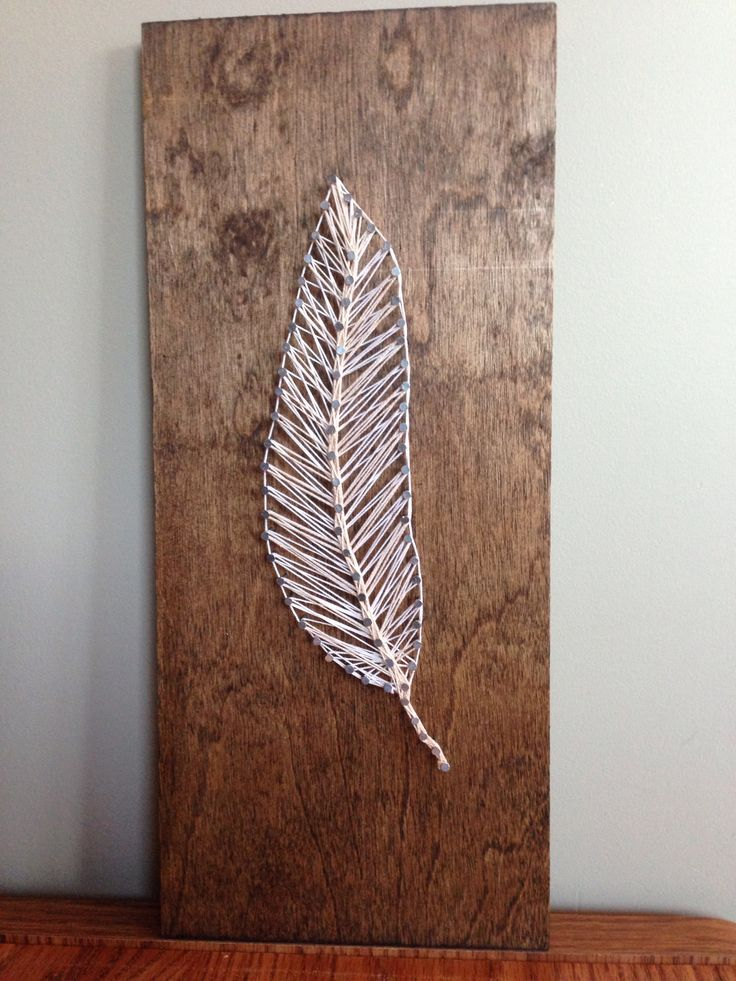 feather string art lindspiration pinterest feathers art and string art. Black Bedroom Furniture Sets. Home Design Ideas
