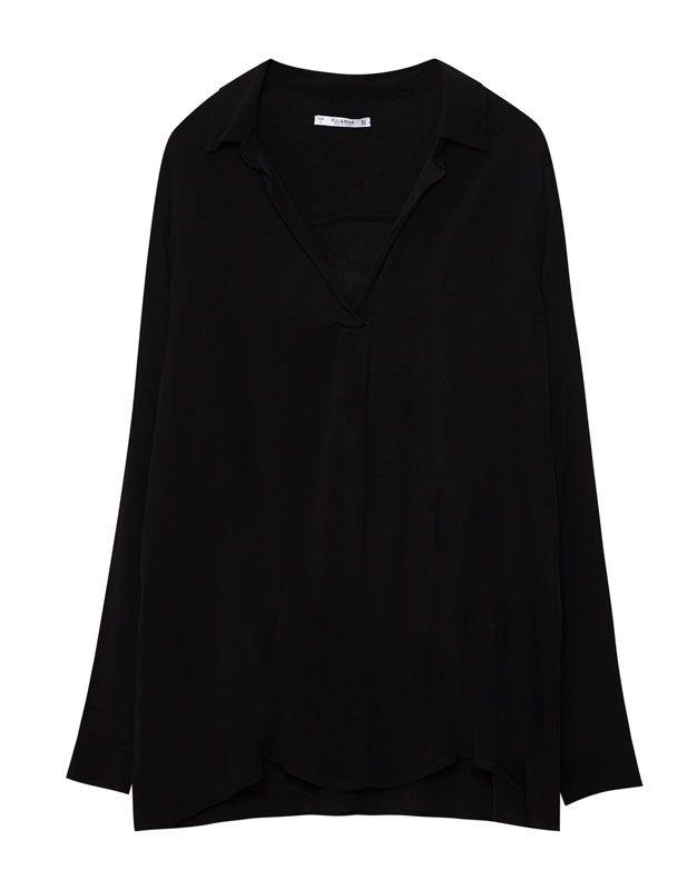 Chemisier à col chemise - Blouses et chemises - Vêtements - Femme - PULL&BEAR France