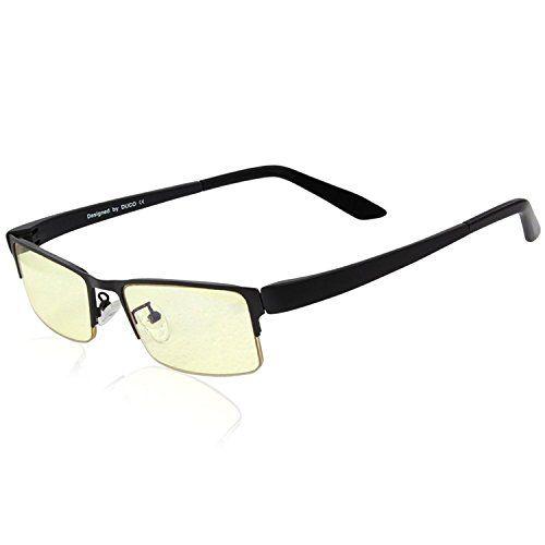 DUCO Optics GX090 Gafas de Ordenador y Gaming de media Montura Lentes de Tinte Ámbar Marco TR90 Color Negro Matte #DUCO #Optics #Gafas #Ordenador #Gaming #media #Montura #Lentes #Tinte #Ámbar #Marco #Color #Negro #Matte