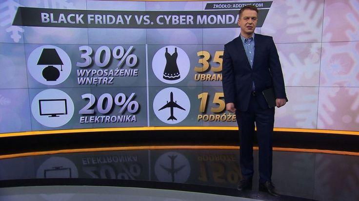 """Dziś w Stanach Zjednoczonych """"czarny piątek"""". Ale to tylko początek szaleństwa związanego z wyprzedażami. Po kilka dni później sklepy organizują """"cyberponiedziałek"""". W tym czasie obniżki obejmują wyłącznie sklepy online. http://tvn24bis.pl/informacje,187/czarny-piatek-kontra-cyberponiedzialek-zakupowy-obled-w-usa-rozlewa-sie-na-swiat,493350.html"""