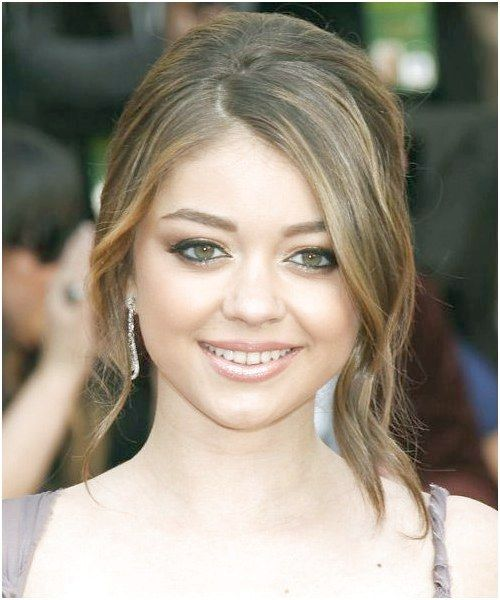 Sarah Hyland Wedding Hairstyle - Updo Long Straight Formal - Medium Brunette hair was set in rollers pulled back and pinned to the head #BrunetteHairs...