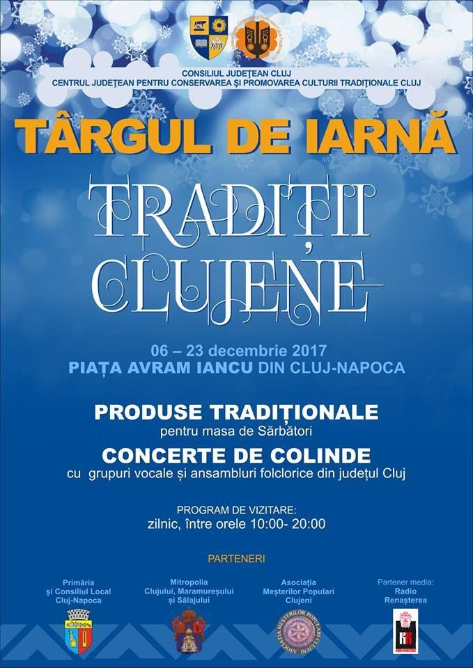 Târgul de iarnă Tradiţii Clujene, în Piaţa Avram Iancu