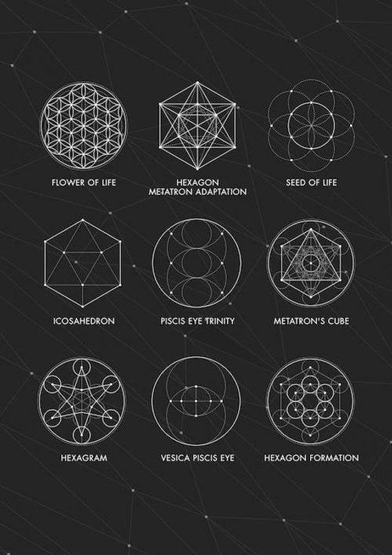 Sacred Geometry Print, Sacred Geometry Poster, Geometry