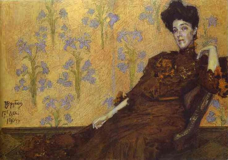 portrait-of-n-zabela-1904.Mikhail Vrubel