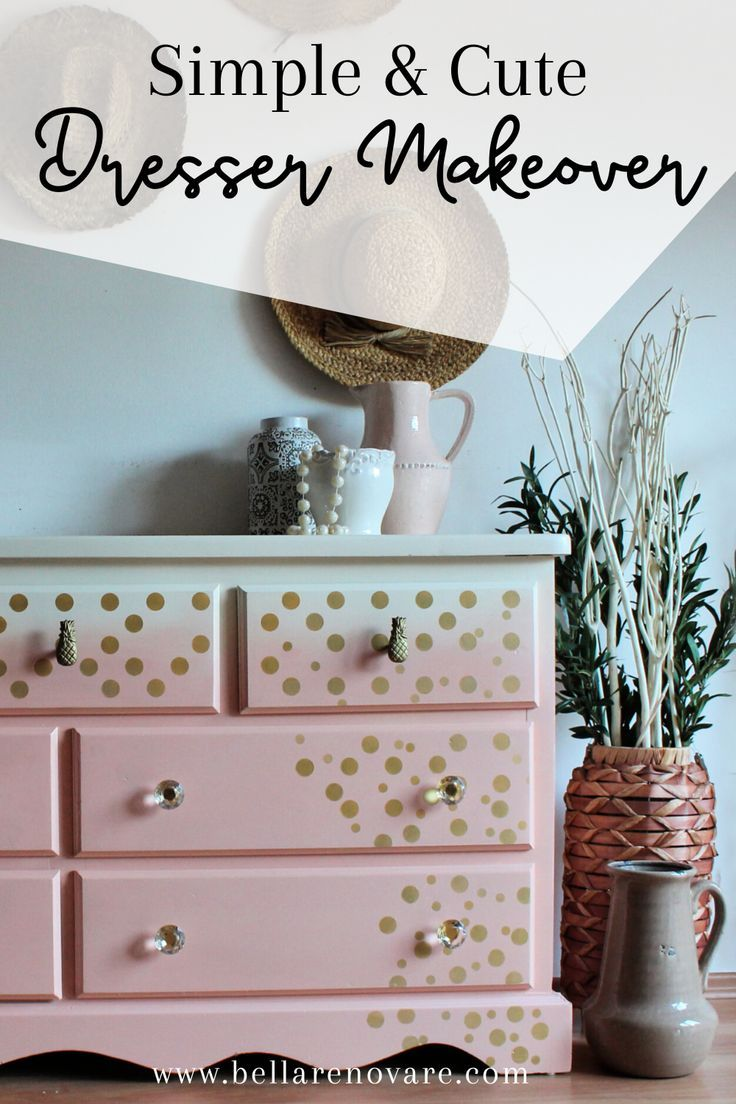 You Have To See This Simple But Amazing Painted Dresser Makeover