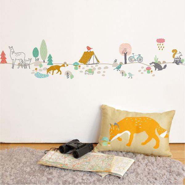 Kidu0027s Wall Sticker   Childrens Forest Wall Sticker   Mimiu0027lou | Petit Home £