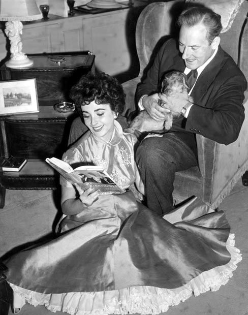 Elizabeth Taylor and Michael Wilding.