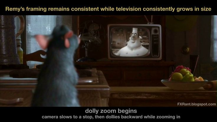 """The Dolly Zoom in """"Ratatouille"""".  (video & article)"""
