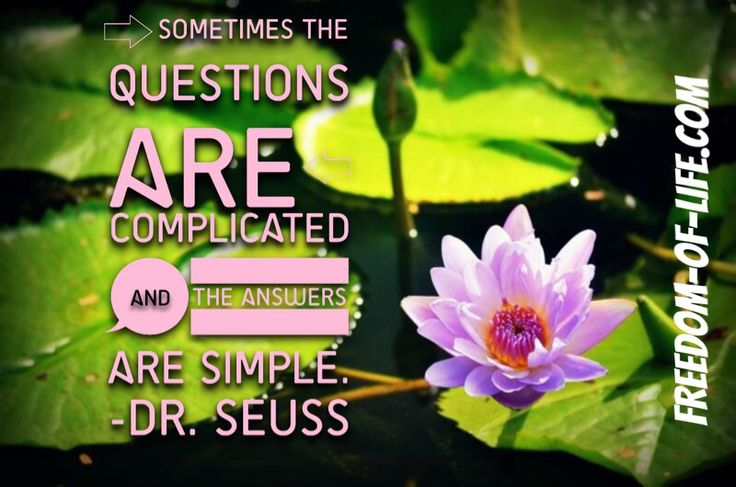 Isn't it true that we often make things more complex than they should be?