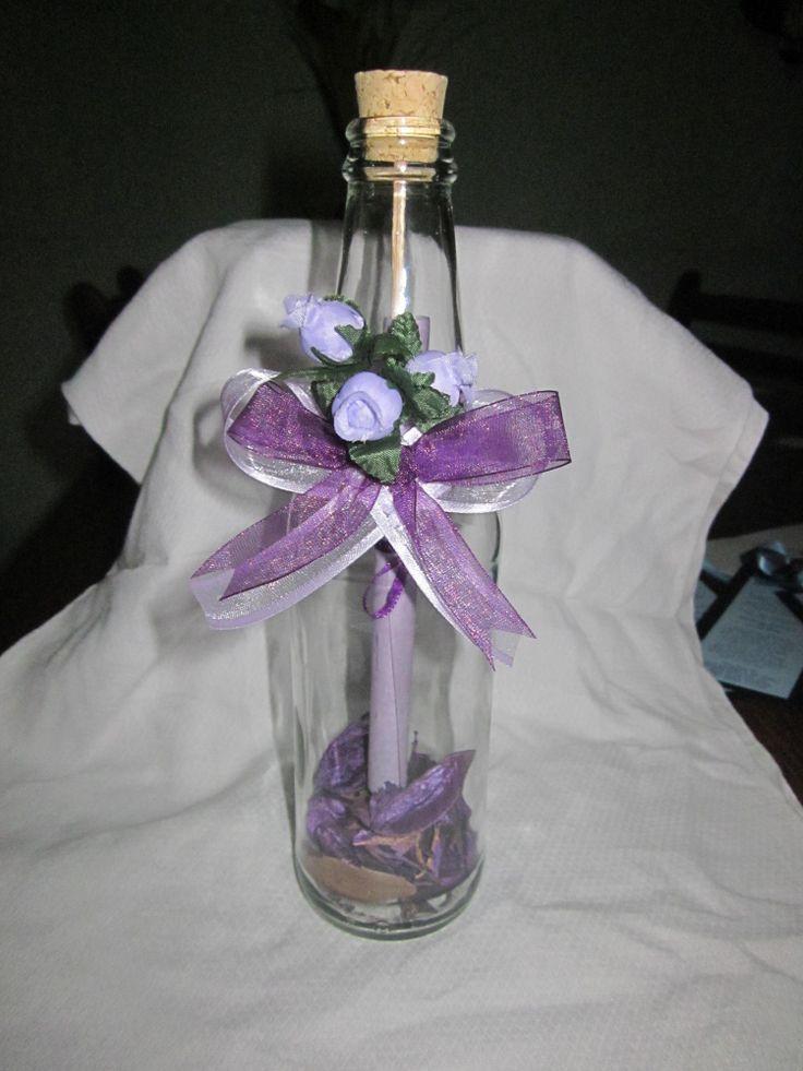 21 best invitaciones en botellas de vidrio images on - Pared cristal ...