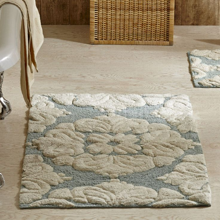 Features:  -Includes 2 bath mats(One large bath mat and one small, sizes 17x24…