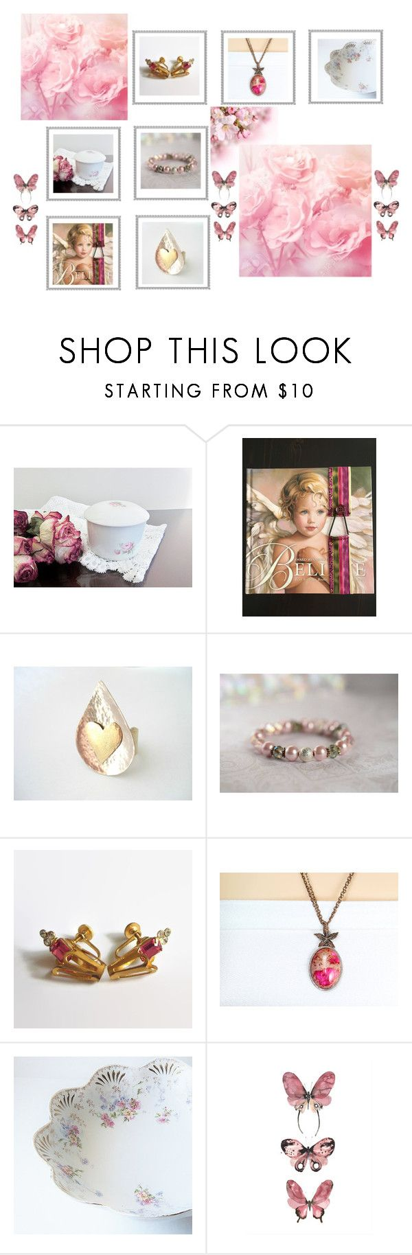 Angelic Pink by jarmgirl on Polyvore featuring vintage