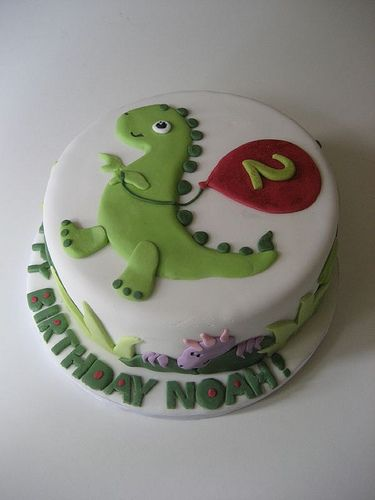Dinosaur birthday cake by Bath Baby Cakes, via Flickr