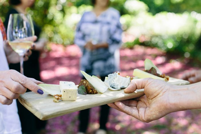 Canapes in Flemish Flavours' summer garden. Advertising Photography by Evangeline Aguas
