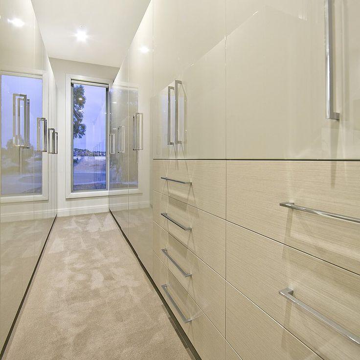 A sleek walk in closet - Custom Build by Serenity Homes #buildingdreams #custombuild #sleek #modern #stylish #interiordesign
