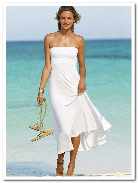 Short casual wedding dresses beach - 3 PHOTO!