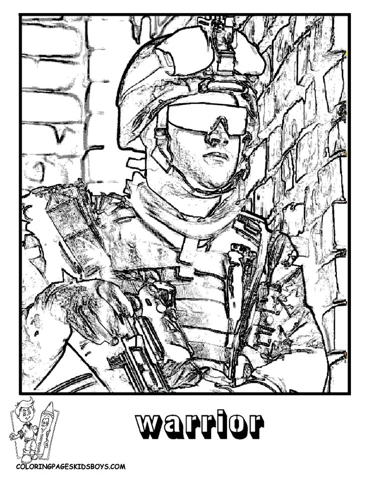 Military Coloring Pages to Print | Military Coloring Page | Military | Free | Army Coloring | Soldier ...