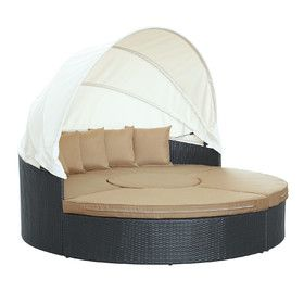 Quest Canopy Daybed Seating Group with Cushions