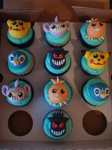 Pokemon cupcakes for a birthday boy by Angelina Cupcake, via Flickr