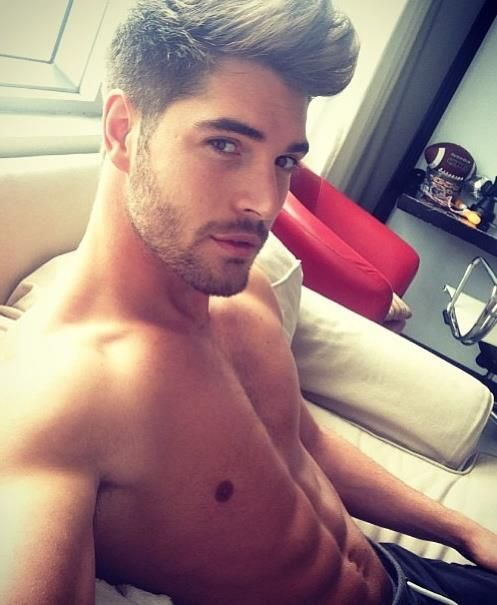 I don't know who this is but daaammmnnn! Lovin' that hair, face, abs, etc, etc <3
