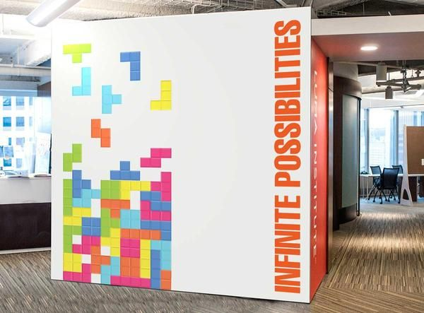 office feature wall ideas. retro game wall sticker in office by vinyl impression feature ideas i