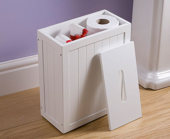 Hide Away Essential But Ugly Bathroom Cleaning Products In This Attractive Shaker Style Storage Caddy Made Of Panelled Mdf A White Painted Finished