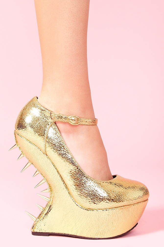 Flash Spike Platform...ladies love spikes, right ? These metallic spiky pumps are perfect for the upcoming holiday season.