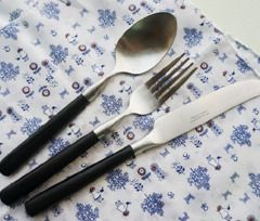 Dulten black cutlery. cozylazy