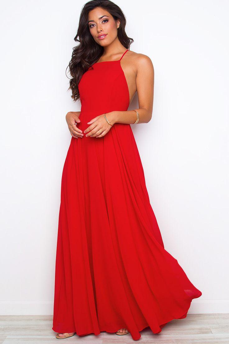 Aurora Maxi Dress - Red