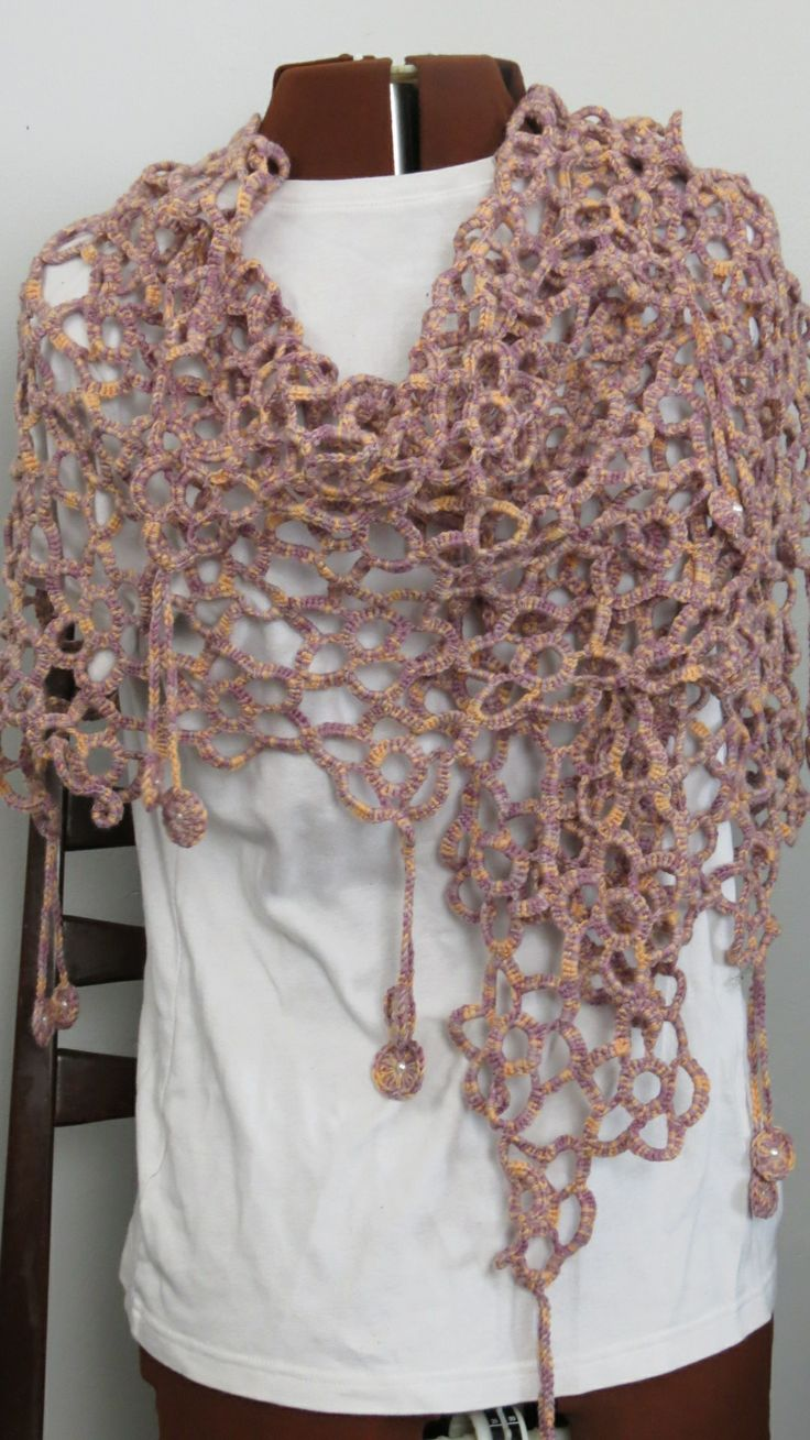 Summer Blooms Scarf/ Wrap Crochet, merino wool, soft and breezy Casual to dressy, Wear as a scarf or wrap