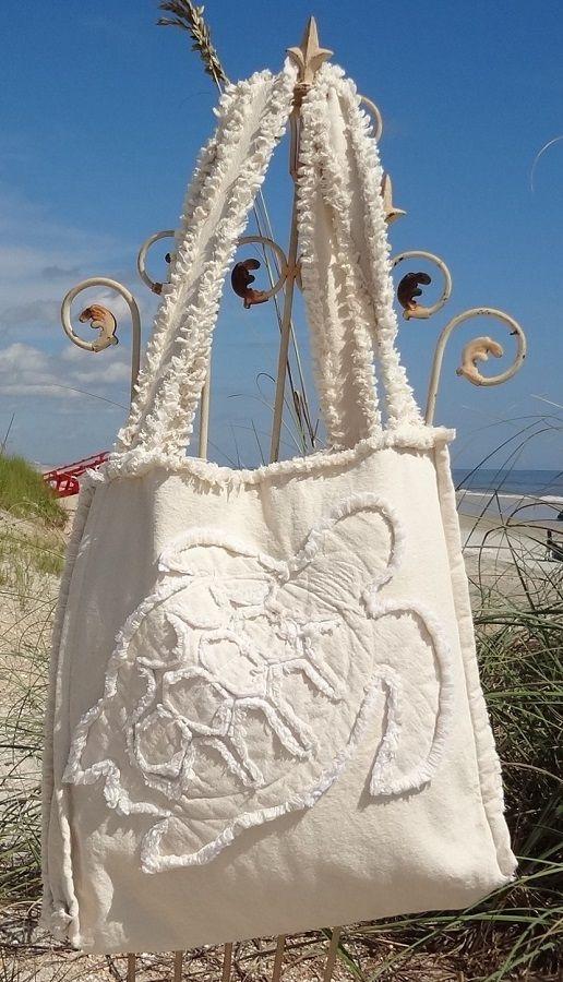 Sea Beach Bag - Sea Turtle Ivory on Ivory