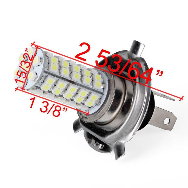 2pcs/set Car Headlight Bulbs Lamp H4 68 SMD LED 6000K Xenon White Head Light Daytime Running Lights Lighting 12V New Arrival