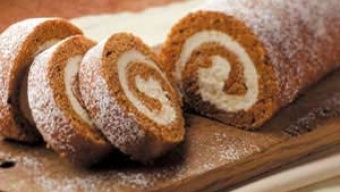 DROOL WORTHY PUP-KIN ROLL.  This slightly sweet pup-kin roll recipe is the perfect holiday treat for your pup. Not only does it taste great, but pumpkin has many health benefits as well.  Pumpkin has been known to be very effective in treating constipation, diarrhea and even help with weight loss.