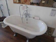 EX Display Burlington Windsor 1500mm Bath With Legs And Bath Shower Mixer Tap