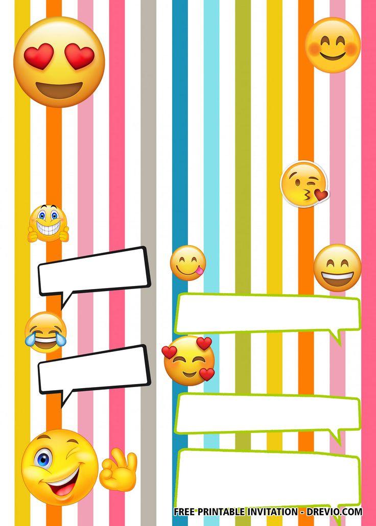 FREE Emoji Birthday Invitation Templates | Emoji birthday ...