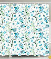 floral design shower curtains