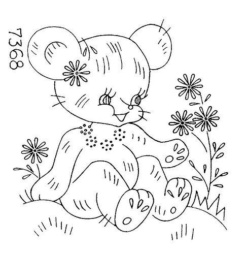 Design 7368 b   Flickr - Photo Sharing! Animal quilt -- bear