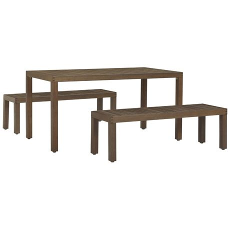 Portsea 3 Piece Dining Package  Natural