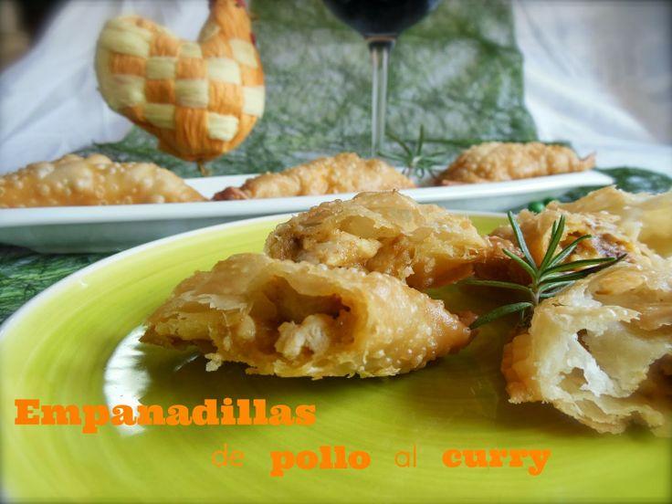 Cocinando en Mislares: EMPANADILLAS de POLLO al CURRY