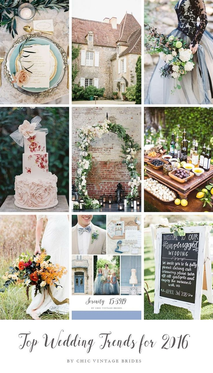 Top Wedding Trends for 2016