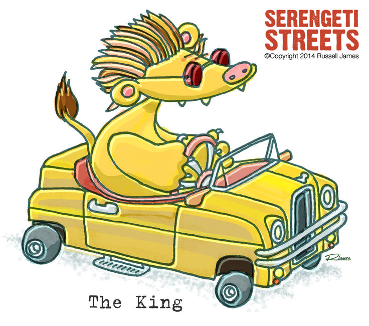 Serengeti Streets by Russell James - lion - the king