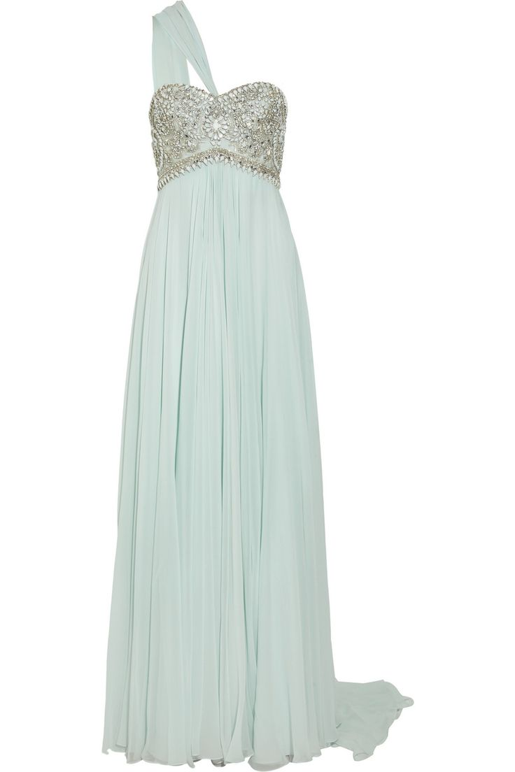 I would possibly wear this as a wedding dress. honest to god.: Mint Maxi Dresses, Wedding Dresses, Bridesmaid Dresses, One Shoulder, Lights Mint, Prom Dresses, Mint Dresses, Silk Chiffon Gowns, Mint Gown