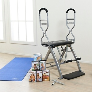 Malibu Pilates Pro Chair With 7 Dvds Sculpting Handles