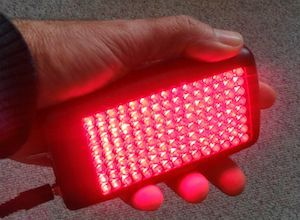 LED light therapy accelerated healing pain reduction red near infrared