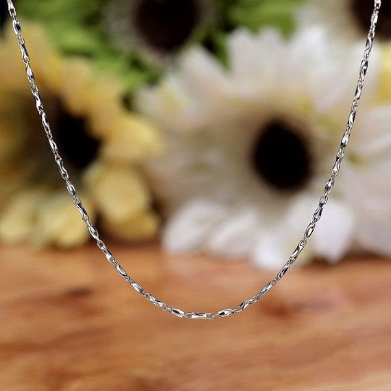 Sterling Silver Necklace Chain Style 9 by ATHiNGZ on Etsy, $7.99