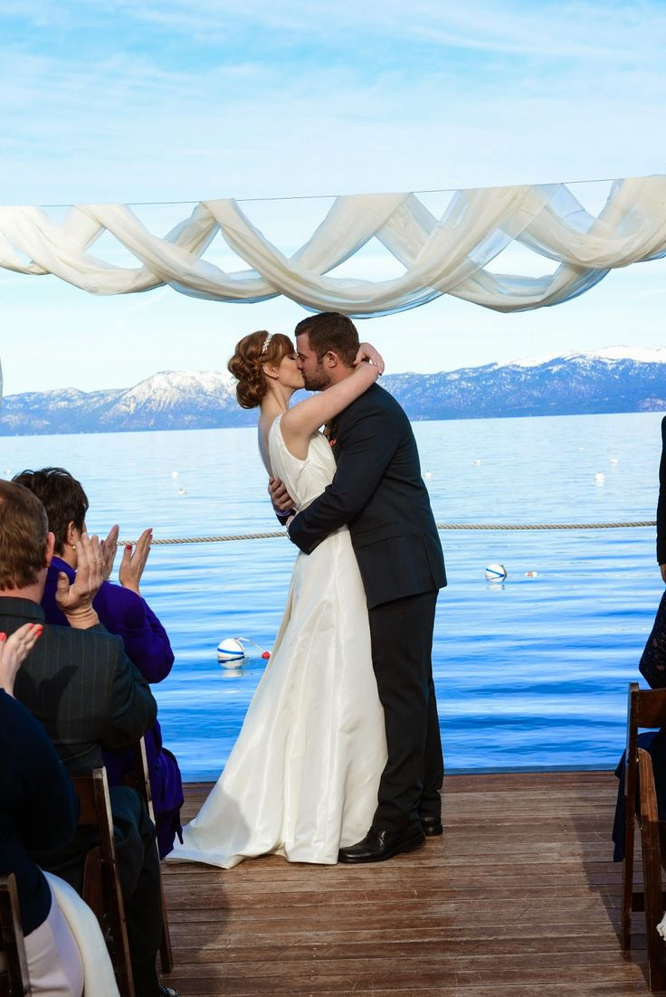 winter wonderland wedding south africa%0A Lake Tahoe Pier Winter Wedding Ceremony   Photo by Jade Studios   Take the  Cake Event