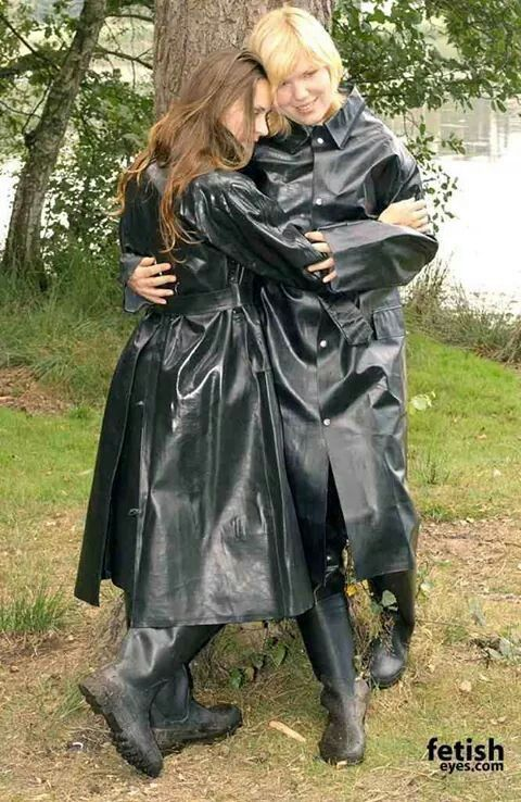 Pair Of Black Rubber Raincoat  Things To Wear  Pinterest -5900