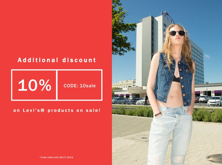 Additional #discount  10% Code: 10sale On #levis products on #sale #code valid until 28.07